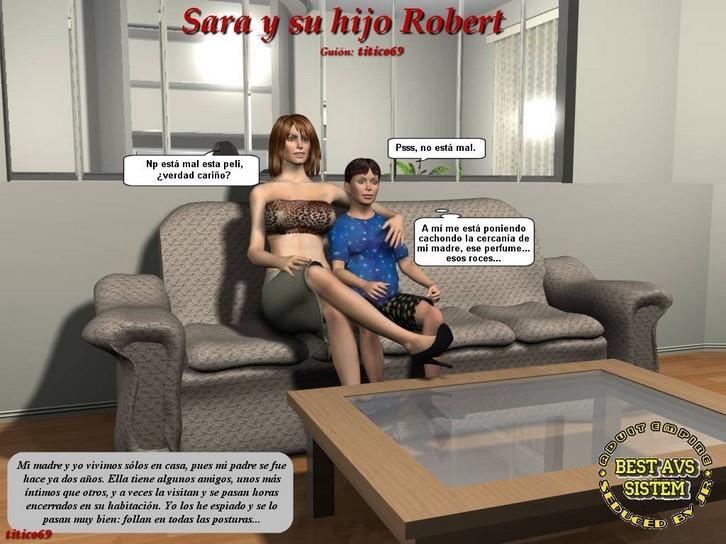 Sara y su hijo robert comics incesto 3d