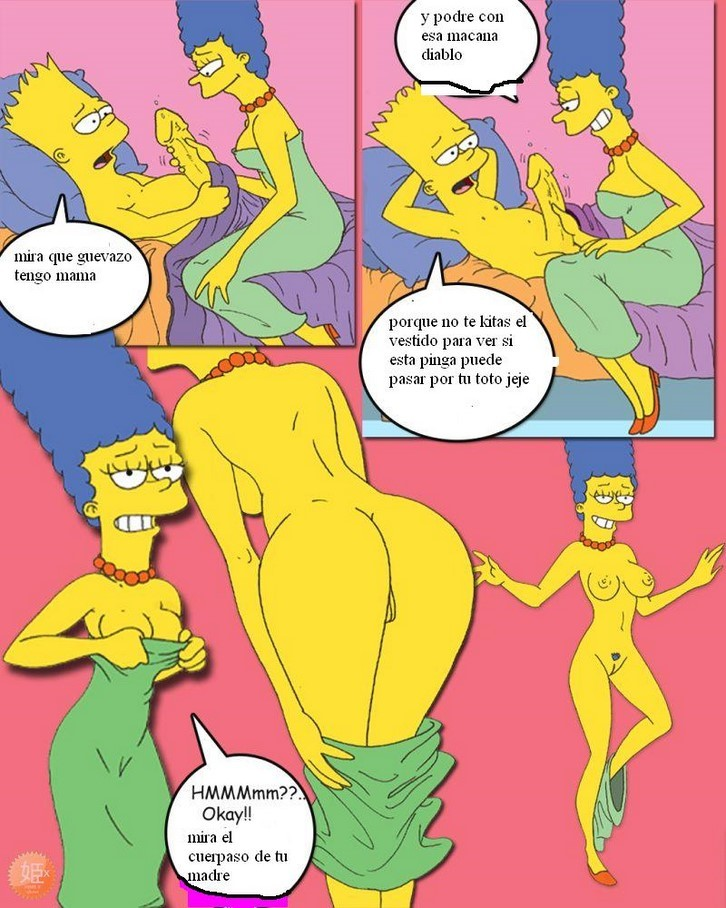 Los simpsons bart y hugo se follan a marge y lisa