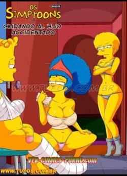 Cuidando al Hijo Accidentado – Los Simpsons